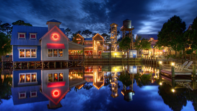 """Baytowne Wharf Pier""<br /> 2nd Place - Digital Projection<br /> Terry Yarbrough"