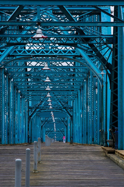 """Chattanooga Bridge""<br /> Honorable Mention - Color Prints<br /> Penny Wegener"