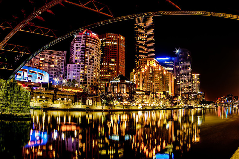 """Melbourne Waterfront""<br /> 3rd Place - Digital Projection<br /> Delos Johnson"
