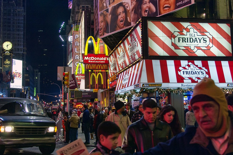 """""""Times Square""""<br /> 3rd Place - Color Prints<br /> Gary Ricketts"""