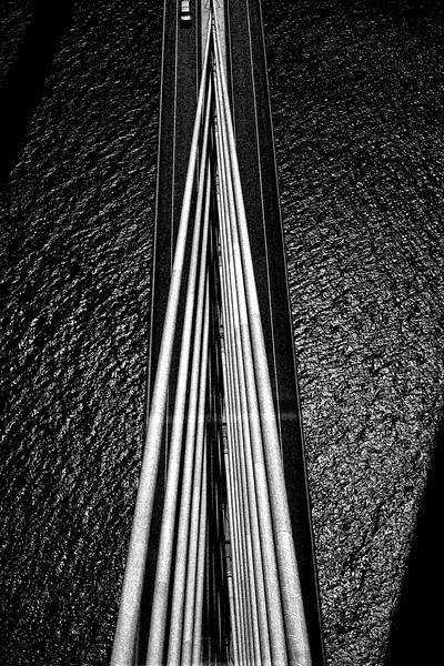 One Car On A Bridge