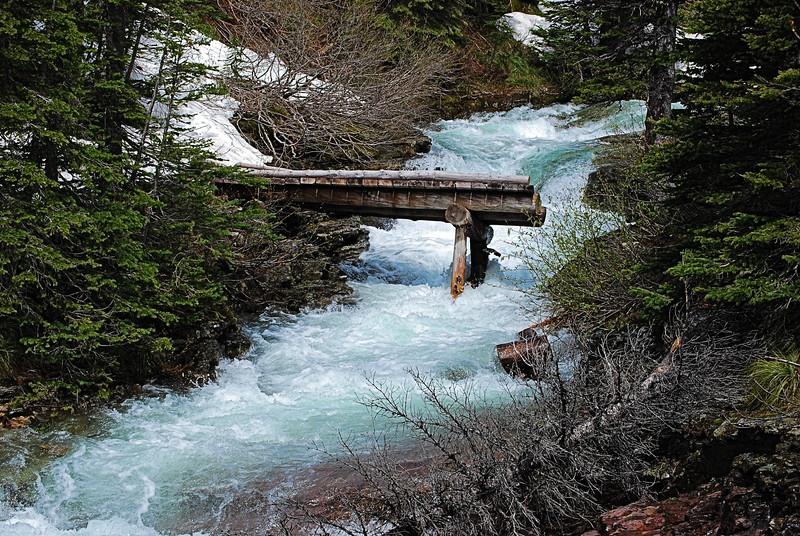 The Bridge is Out - Glacier National Park