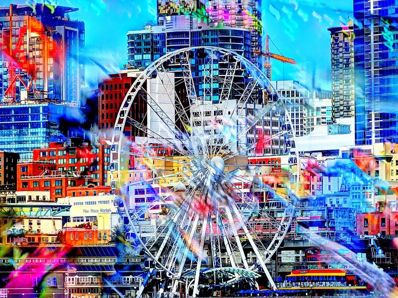 Fiery Ferris Wheel