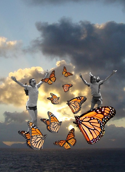 Flying With Monarchs