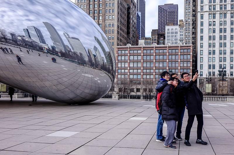 Selfie in Chicago