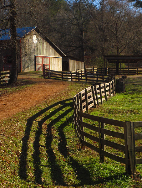 Barn with Winding Fence