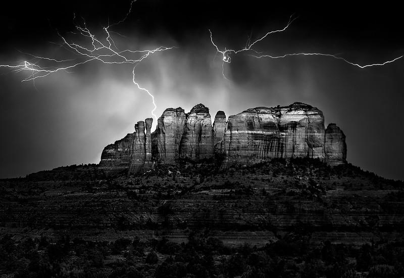 Sedona Lightning Storm