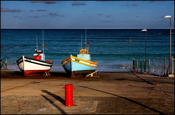 Boats at Sunset in Arniston Harbour