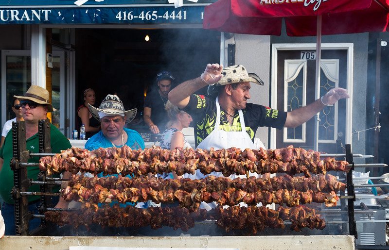 Food at the Taste of Danforth Festival
