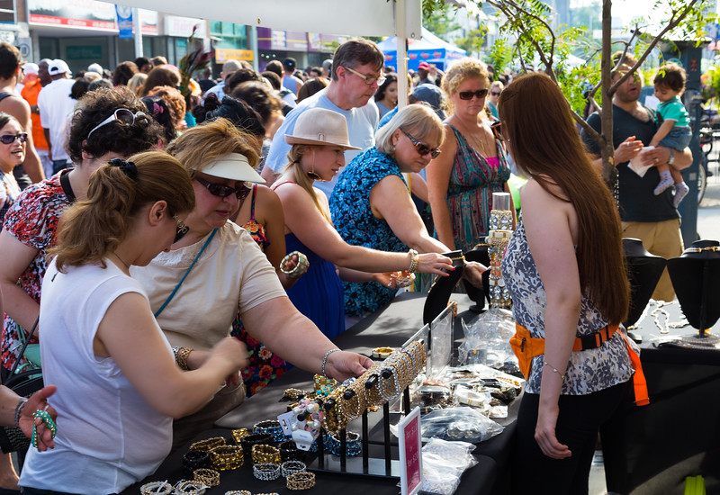 Jewellery stand at Taste of Danforth Toronto