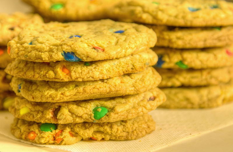 April 18th, 2011<br /> <br /> Finally make cookies with the MnMs from last week. <br /> Hope you all had a great weekend and good luck getting through your Monday!