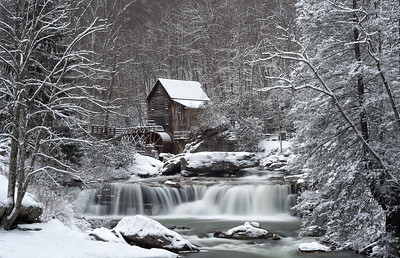 Glade Creek Grist Mill at Babcock State Park - Winter Version