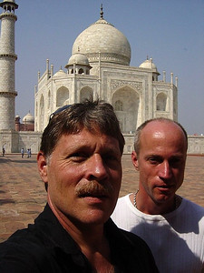 at the Taj with Bill