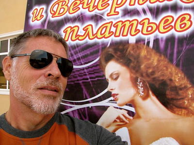 An idiot in sunglasses in Nukus, Uzbekistan