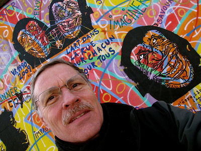 at the Berlin Wall Eastside Gallery, when it was there...