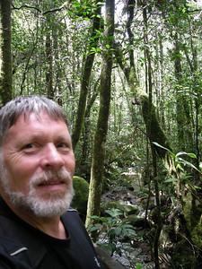 on a hiking trail on Mt. Kinabalu, Sabah