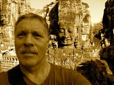 Bayon Boy - at Angkor Thom in Cambodia