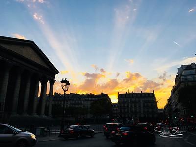 Madeleine at sunset
