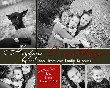 Kari holiday card