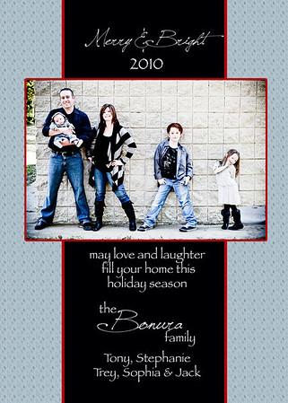 Bonura family card blue