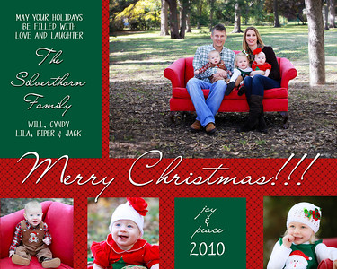 Silverthorn holiday card family