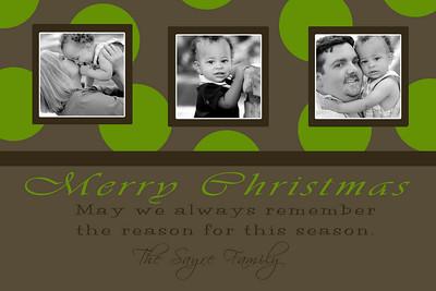 Sayre sample_Green Brown Polka Dot Christmas 4x6