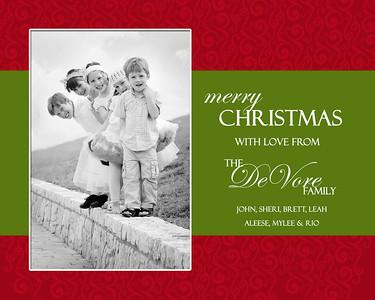 Devore christmas card