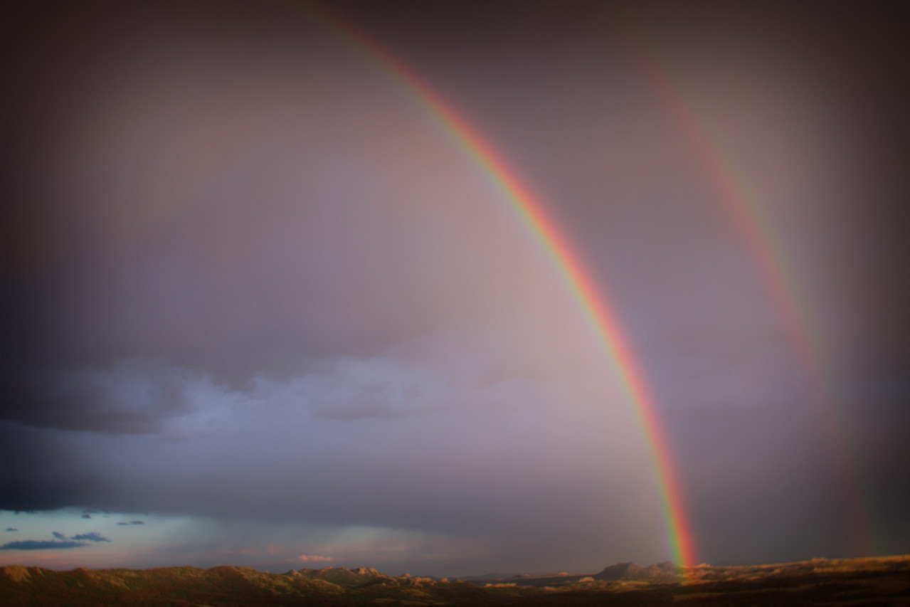 August 24th, 2011 - Almost double rainbow<br /> <br /> Happy Hump Day!