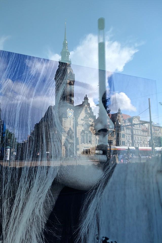 Leipzig City minded Woman