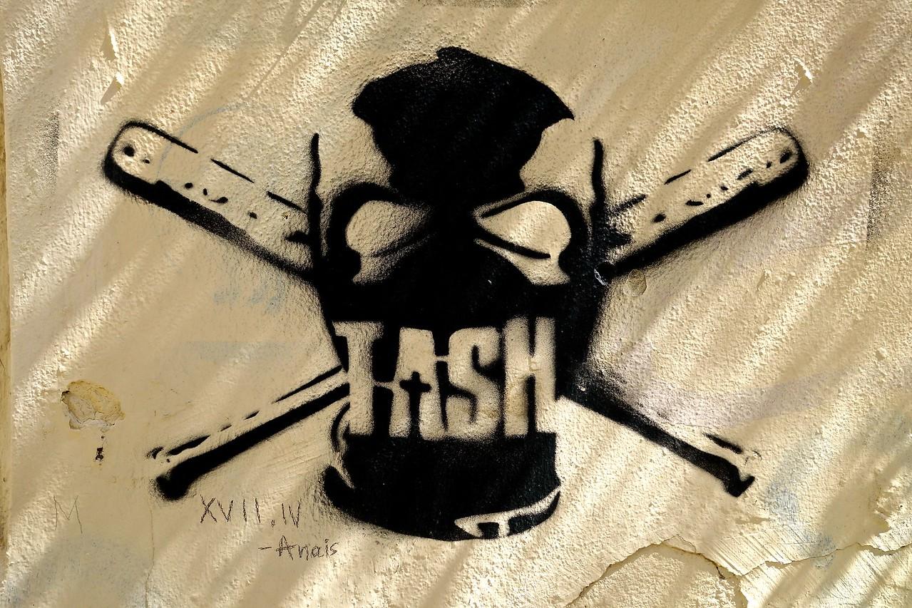 TASH - perhaps the name of an organization... Heraklion, Crete