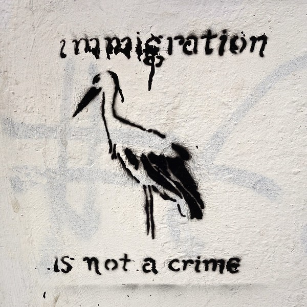immigration is not a crime... Heraklion, Crete