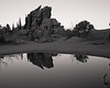 October 18th, 2010 - Rural Rubble<br /> <br /> Smaller configuration of a larger rock formation called Vedauwoo. I tried hard to minimize the business of this composition but the puddle was too big to get a full reflection, and I was running out of time. I will have to get back up here at some point and play with this some more.<br /> <br /> Hope you all have a great start to your week!