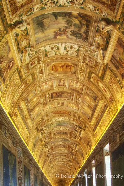 Vatican gold gilded ceiling