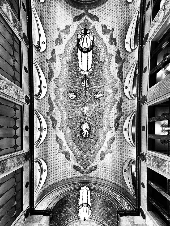 Ceiling inside The Fisher Building