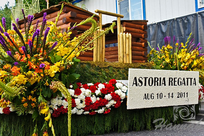 Astoria Regatta Float during the Portland Rose Festival 2011 Grand Floral Parade Float Showcase  © Copyright Hannah Pastrana Prieto