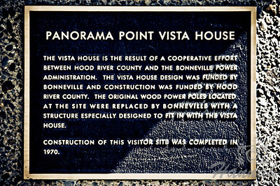 Landmark signage at Panorama Point Vista House where a panoramic view of Mt.Hood, Hood River and the Columbia River Gorge in Oregon can be seen  © Copyright Hannah Pastrana Prieto