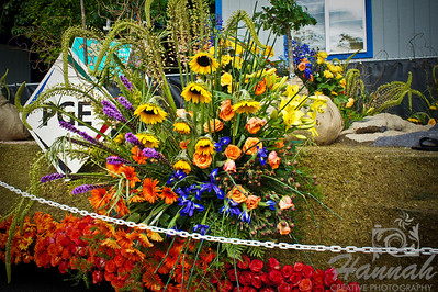 Portland General Electric Floral Float during the Portland Rose Festival 2011 Grand Floral Parade Float Showcase  © Copyright Hannah Pastrana Prieto