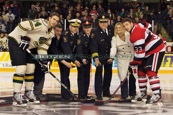 Honouring first responders today:  Police, Paramedics and Fire with MNBA as the game-day sponsors.