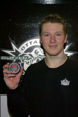 Tyler Toffoli with the puck from his 50th goal.