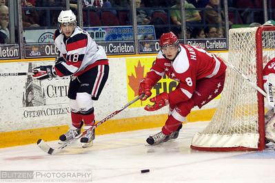 Shane Prince and former Ottawa 67's Derek Hartwick