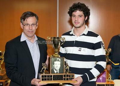 CTV Ottawa's Terry Marcotte presented the Brian Smith Award for Community Service to Travis Gibbons