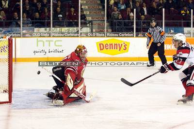 Ben Dubois' SHG to tie the game at 1 in the first period.