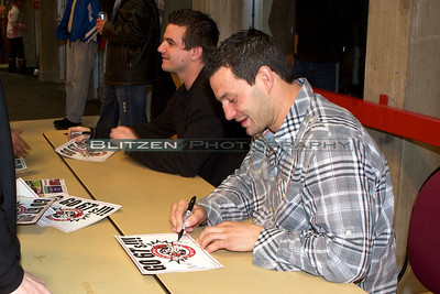 Former 67's Lance Galbraith and Zenon Konopka were on hand to sign autographs