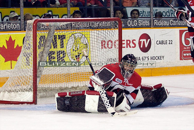 One of many great saves by Petr Mrazek.