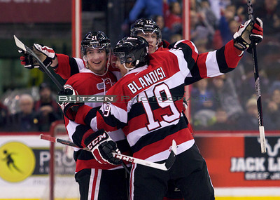 Middleton and Blandisi celebrating Big Mike's PPG against their former team.
