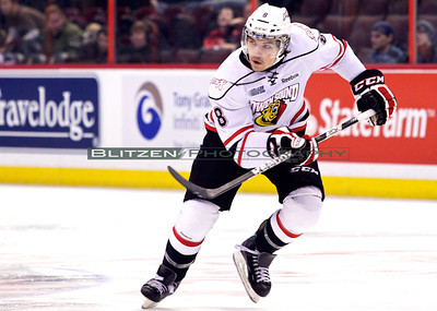 Former Ottawa 67's co-captain Cody Ceci now playing for Owen Sound.