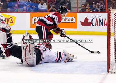 Blandisi getting oh so close to scoring on his former team.