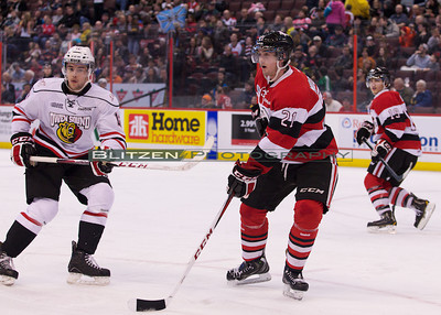 3 of the 4 players involved in the trade between the Ottawa 67's and Owen Sound:  Steven Janes, Jacob Middleton and Joseph Blandisi.
