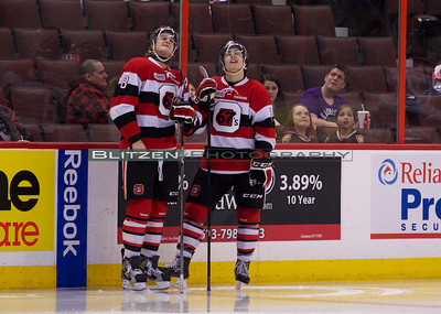 Van Stralen and Blandisi taking a look at the first period highlights.