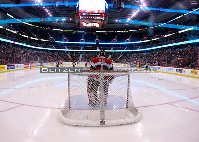 What it looks like from the goalie perspective